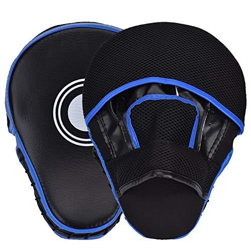 Cozyswan Handpratzen 1 Paar Trainerpratzen Kickboxen Boxen Pratzen für das Karate MMA Kickboxen Muay Thai Sparring (Blau)