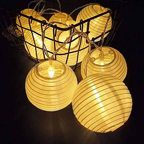 CFLFDC Lichtsnoer op zonne-energie, waterdicht, zaklamp, ketting, vakantie, decoratie, kleine zaklampen, 3 m, 20 lampen, plug-in verwarming wit (gekleurde zaklamp)