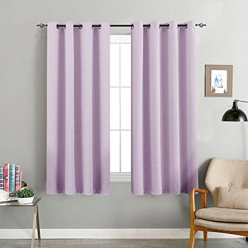 TOPICK Sheer Vorhang mit Ösen Halb Transparent Gardinen 2 Stücke Gaze paarig Fensterschal Vorhänge, Leichter Kaffee, 130 cm x 145 cm (H x B)