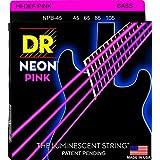 DR ベース弦 NEON ニッケルメッキ ピンク カラー コーテッド .045-.105 NPB-45