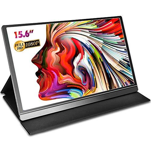 Aztine 15.6 inch draagbare monitor 1920×1080 Full HD IPS-scherm met HDMI voor laptop, pc, MAC, Xbox, PS4, Smart Phone met Type-C volledige functie