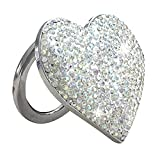 Car Push Start Button Cover Engine Start Stop Button Cover Push to Start Cover Push Button Start Cover Car Crystal Rhinestone Ring Emblem Sticker Start Button Cover - Car Accessories for Teen(Silver)