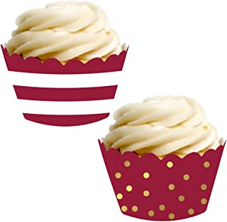 maroon cupcakes