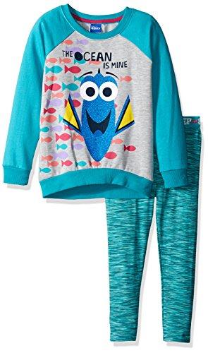 Disney Mädchen 2 Stück Finding Dory Legging Set Space-Dye 2T Blau