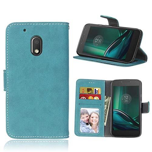 ShuiSu Flip Cover per Motorola Moto G4 Play, Retro Riga PU Pelle Morbida Silicone Chiusura Magnetica Portafoglio Portafoglio Portafoglio Cellulare Custodia protettiva