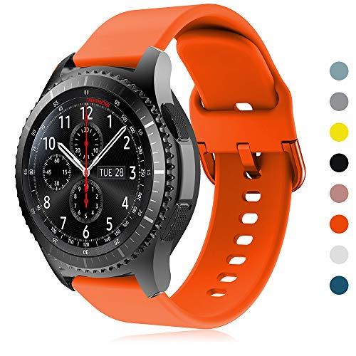 YPSNH Kompatibel für Samsung Gear S3 Armband 22mm Silikon Ersatz Sport Uhrenarmbander für Samsung Gear S3 Frontier / S3 Classic/Galaxy Watch 46mm / Huawei Watch GT 46mm / Ticwatch Pro