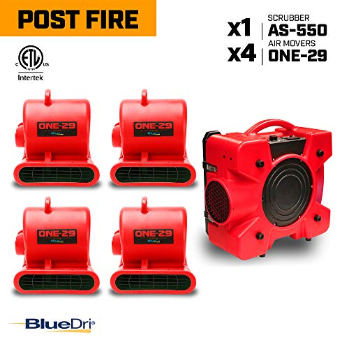 Why Should You Buy BlueDri Post Fire Pack 1 4X 1/3 HP One-29 Air Movers Carpet Dryer Blower Floor Fa...