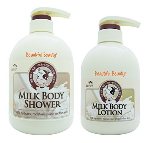 MILK BODY SHOWER 750ml + BODY LOTION 500ml SET by THE FLOWER MEN