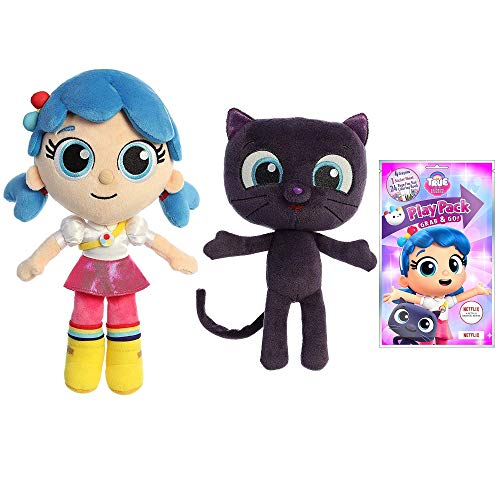 Aurora True and The Rainbow Kingdom Plush Dolls, True and Bartleby (Activity Pack Set)