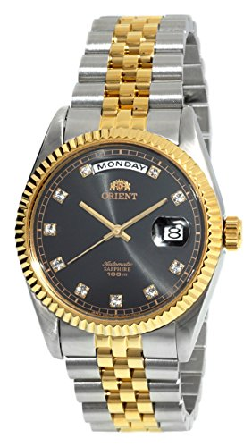 ORIENT 'President' Classic Automatic Sapphire Watch Two Tone Gold EV0J002B