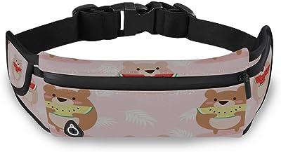 Panda Eating Watermelon Sport Waist Packs Fanny Pack Adjustable For Hike
