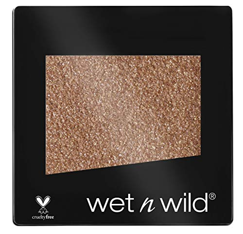 Wet N Wild Color Icon Eyeshadow Glitter Single – hochpigmentierter Glitzer Lidschatten, vegan, Nudecomer, 1 Stk, 1,4g