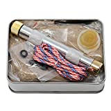 American Heritage <span class='highlight'>In</span>dustries Fire Piston Kit- Firestarter Kit with Char Cloth, Cord, and T<span class='highlight'>in</span>der, Survivalist and Prepper Gift, Easily Start Your Next Campfire