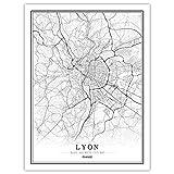 Lonfenner Leinwand Bild,Lyon Frankreich Abstrakte Farbe