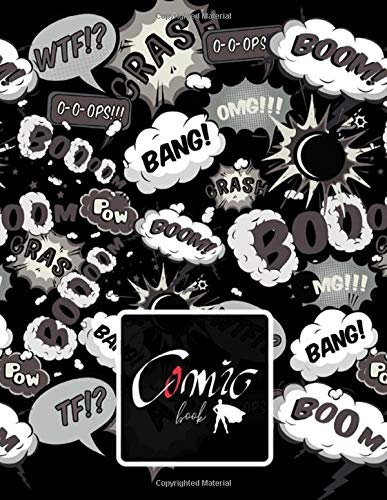 BANG! Comic BOOK: BLACK PAPER for gel pen. Black interior. 110 pages For Students, Adults and all color lovers. Perfectly for Metallic Gel Pens, ... Drawing, Doodling and growing your creativity