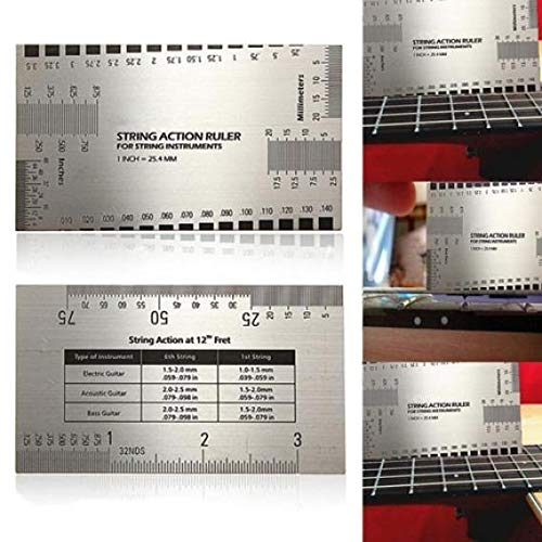 YSHTAN Orchestral Instrument Ruler String Action Gauge Ruler Guide Setup Luthier Meting voor elektrische gitaar Bass