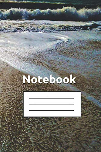 A5 Lined Notebook, 100 Pages Beach Sand Cover Journal, Writing Note Pad, Extra Thick Lines: Perfect For School, Travel or Diary, Unisex Cover, Make it a Day to Rememer
