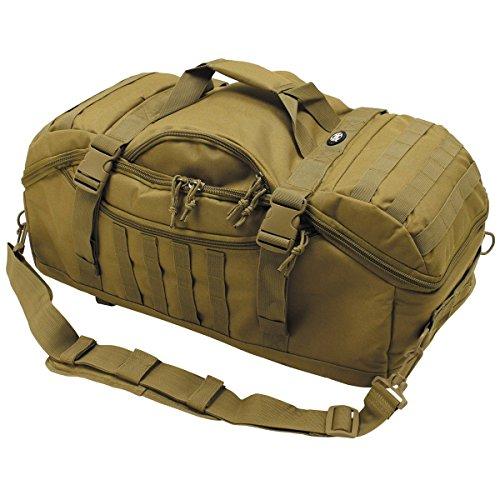 MFH Rucksacktasche Travel Army Reiserucksack Armee Seesacktasche Reisetasche Sporttasche (Coyote)