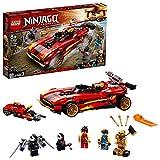 LEGO 71737 NINJAGO Legacy 71737 Deportivo Ninja X-1, Coche y Moto de Juguete con Figura Dorada de Cole