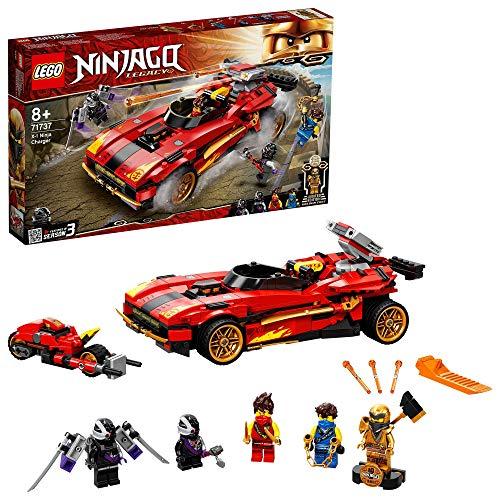 LEGO71737NinjagoLegacy71737DeportivoNinjaX-1,CocheyMotodeJugueteconMiniFiguraDoradadeCole