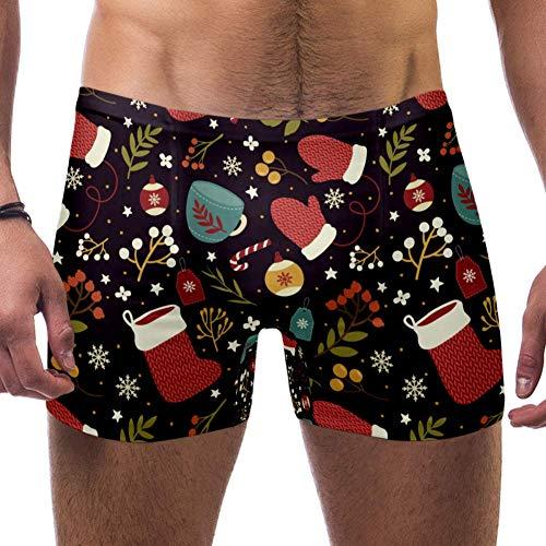 TIZORAX mannen zwemmen Trunk korte warme kerst patroon vierkante been badpak ondergoed Jammer kort