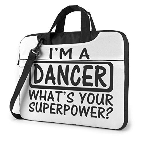 Ik ben een danseres wat is je Superpower laptop schoudertas met handgreep draagtas