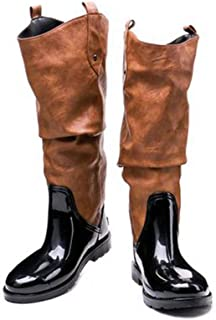 MEIGUIshop Rain Boots - Casual Fashion high-Altitude Waterproof rain Boots rain Boots