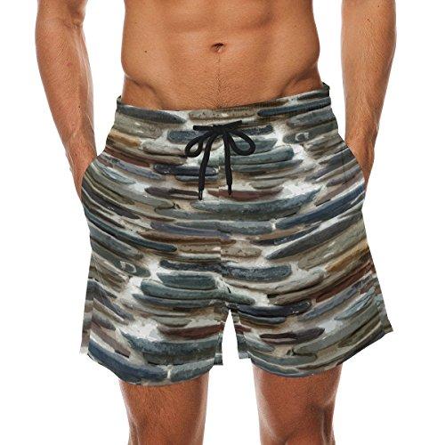 COOSUN Stone Wall Beach Board Shorts voor heren, sneldrogende zwembroek