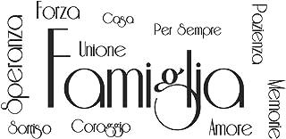 ADESIVI MURALI FRASI CITAZIONI FAMIGLIA AMORE CASA SPERANZA FORZA CORAGGIO SORRISO MEMORIE Wall Stickers Adesivo Murale Fr...