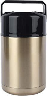 Unibell 千ミリリットルステンレス鋼の真空魔法瓶ランチボックスくすぶりマグカップ保冷スープコンテナ...