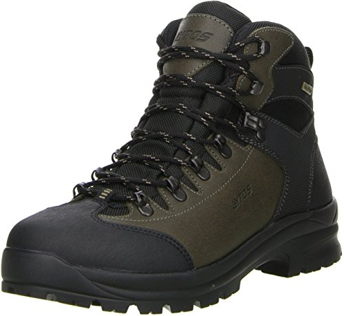 LYTOS Herren Wanderschuhe Trekkingschuhe braun/schwarz, Größe:47, Farbe:Braun