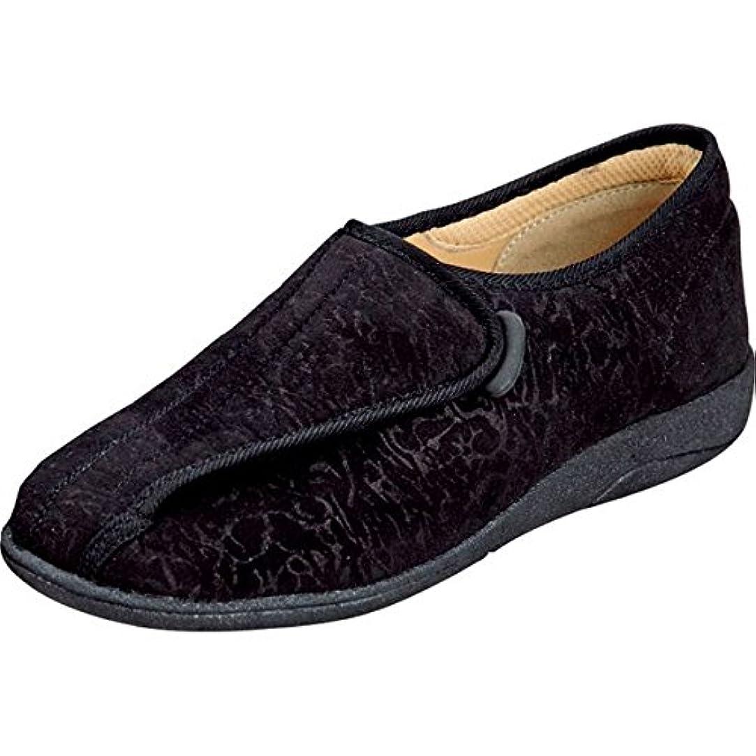 撃退する種ディスパッチマリアンヌ製靴 彩彩~ソフト~ケアシューズ 通常インソールタイプ W802 /21.5cm ブラック ファッション 靴 シューズ サポートシューズ 室内用 top1-ds-1431789-ak [簡易パッケージ品]