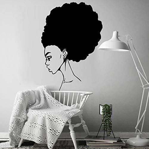 Arte africano mujer pegatina de pared extraíble autoadhesivo acuarela sala de estar decoración del hogar pegatina de pared A9 M 28x40cm