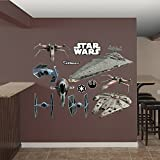 FATHEAD Star Wars: Original Trilogy Spaceships Collection-X-Large Officially Licensed Removable Wall Decal