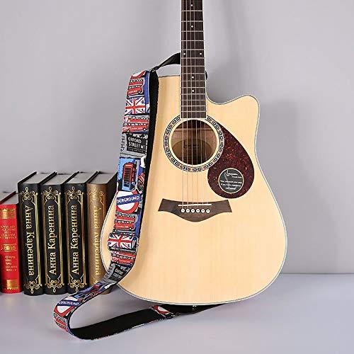 Correa de guitarra Tire de dril de algodón de la flor de...