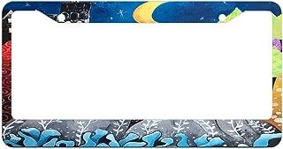 Custom License Plate Frame Aluminum Metal, Car Tag Holder, Decorative License Plate Cover 2 Holes