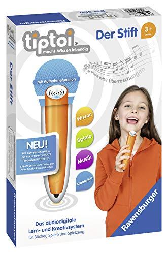 Ravensburger tiptoi Stift 00801 - Das audiodigitale Lern- und Kreativsystem, Lernspielzeug für Kinder ab 3 Jahren - Der Stift mit Aufnahmefunktion