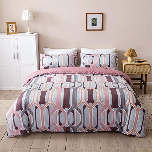 Shamdon Home Collection Duvet Cover Set Bedding Set Ultra Soft Hypoallergenic Microfiber 1 x Quilt Cover with 2 x Pillow Cases, Zipper Closure, Double