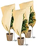 Royal Gardineer Winterschutz Hauben: 3er-Set Pflanzenabdeckungen als Winterschutz, 100x80cm, 80 g/m² (Winterschutz Kübelpflanzensäcke)