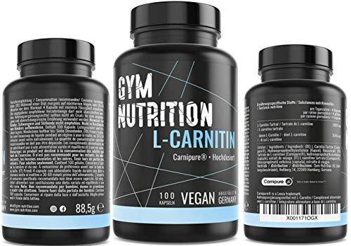 L- CARNITIN Kapseln ultra hochdosiert 3000 L Carnitin Carnipure® LONZA Qualität - Extrem Beliebt bei Sportlern- Laborgeprüft vegan - ohne Zusätze 100 Kapseln Made in Germany