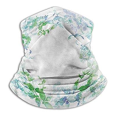 Bandanas For Women Mint Headband Neck Gaiter Spring Wreath Watercolor 10 x 12 Inch
