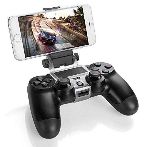 GAMINGER Smart Clip per smartphone supporto con fissaggio per Sony Dualshock Controller per Play Station 4