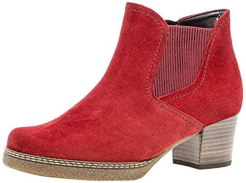 Gabor Damen Chelsea Boots 36.661, Frauen Stiefelette,Stiefel,Halbstiefel,Bootie,Schlupfstiefel,hoch,dk-Opera (S.n/Mic),40.5 EU / 7 UK
