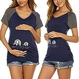 Unibelle T-Shirt Schwangerschaft Damen Kurzarm Umstands Mama Tshirt/Umstandstop Umstandsmode Schwangeres Stillen Top
