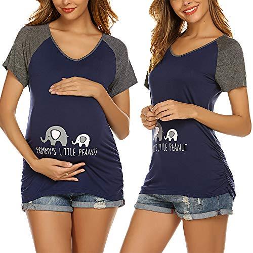 Unibelle Stillshirt Kurzarm Umstands Tshirt Damen Umstandstop Umstandsmode Stilltop Schwangerschaft Tshirt Sommer