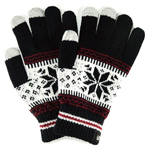 (トレリア) Trelia スマホ 手袋 レディース タッチパネル ニット グローブ 雪柄 ノルディック柄 防寒 あっ...