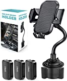 SUPBEC Car Cup Phone Mount Holder [Stable] Universal Adjustable Smartphone Car Mount Holder Cradle Compatible with iPhone 11/Xr/8/7,Samsung Galaxy S10/9/LG /Sony Nokia-Black
