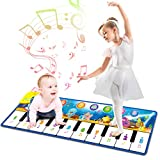 Kids Toys for 1 Year Old Boy, Musical Mat, Piano Keyboard Dance Floor Mat Carpet Animal Blanket Touch Playmat, Early Education Music Toys First Birthday Gift for Baby Toddlers 3-5 Girl (43.3x14.2inch)