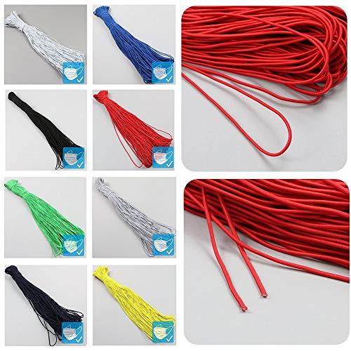 MeGaProm Ø3mm Gummiband für diverse DIY-Projekte - kochfest bis 95°C, Gummilitze, Gummibänder zum Nähen & Basteln, elastische Kordel, Gummikordel, Elastik-Kordel, Rundgummi als Meterware in Rot