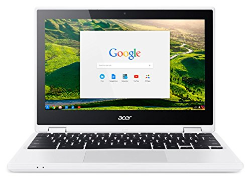 Acer Chromebook CB5-132T-C8VM Ordinateur 2-en-1 Tactile 11' HD Blanc (Intel Celeron, 4 Go de RAM, Mémoire 32 Go, Intel HD Graphics, Chrome OS) Ancien Modèle